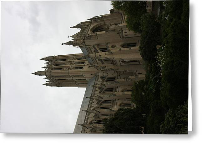 Arch Greeting Cards - Washington National Cathedral - Washington DC - 011351 Greeting Card by DC Photographer
