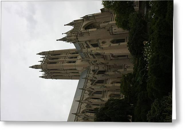 Religion Greeting Cards - Washington National Cathedral - Washington DC - 011351 Greeting Card by DC Photographer
