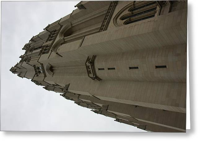North Greeting Cards - Washington National Cathedral - Washington DC - 011352 Greeting Card by DC Photographer