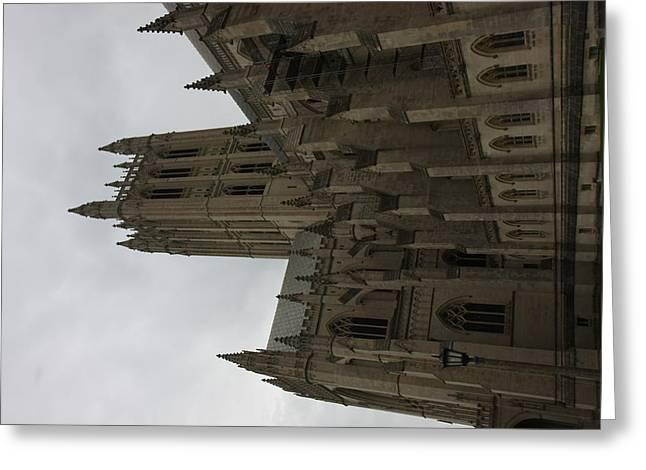 Christ Photographs Greeting Cards - Washington National Cathedral - Washington DC - 011356 Greeting Card by DC Photographer