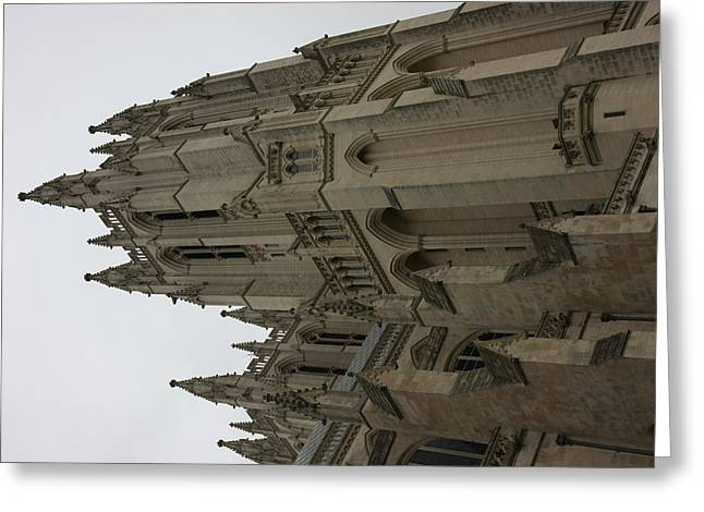 Religion Greeting Cards - Washington National Cathedral - Washington DC - 011357 Greeting Card by DC Photographer