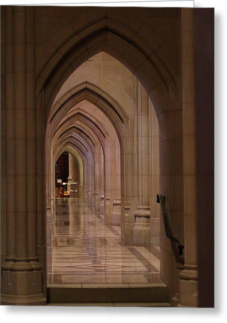Creation Greeting Cards - Washington National Cathedral - Washington DC - 01136 Greeting Card by DC Photographer