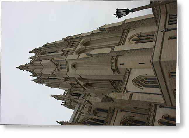 Creation Greeting Cards - Washington National Cathedral - Washington DC - 011367 Greeting Card by DC Photographer