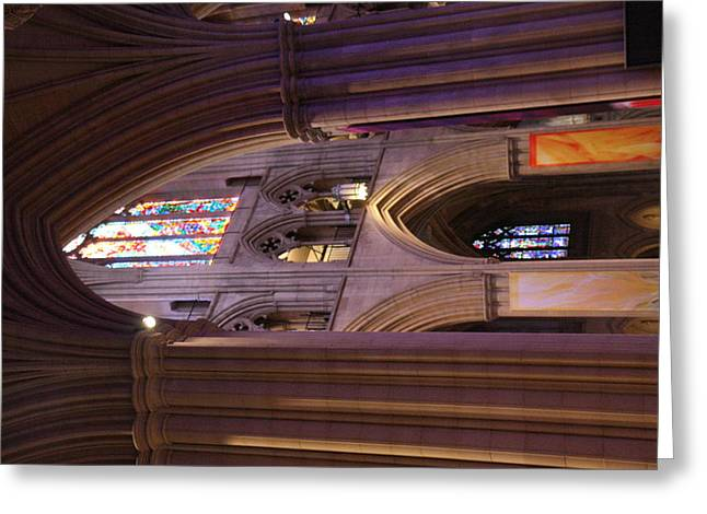 Pillars Greeting Cards - Washington National Cathedral - Washington DC - 011385 Greeting Card by DC Photographer