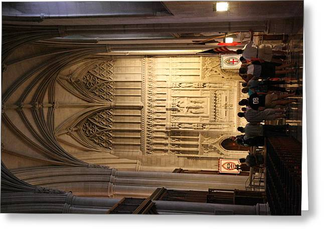 Glasses Greeting Cards - Washington National Cathedral - Washington DC - 011393 Greeting Card by DC Photographer
