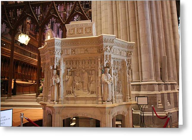Arch Greeting Cards - Washington National Cathedral - Washington DC - 011395 Greeting Card by DC Photographer