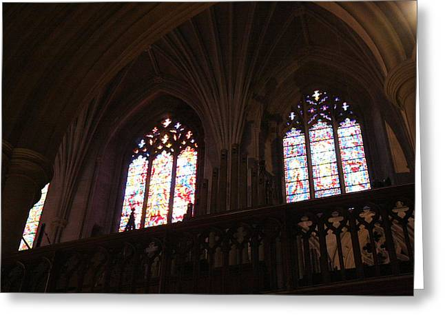 Great Greeting Cards - Washington National Cathedral - Washington DC - 011399 Greeting Card by DC Photographer