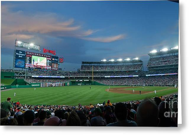 Red Sox Baseball Greeting Cards - Washington Nationals in Our Nations Capitol Greeting Card by Thomas Marchessault