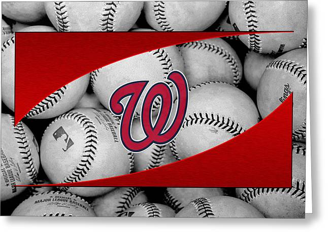 Player Photographs Greeting Cards - Washington Nationals Greeting Card by Joe Hamilton