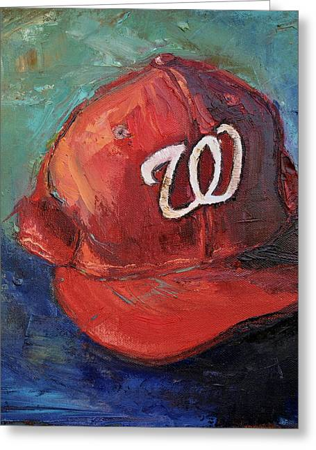 American League Greeting Cards - Washington Nationals Greeting Card by Lindsay Frost