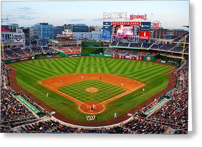Washington Dc Baseball Greeting Cards - Washington Nationals Park Greeting Card by James Kirkikis