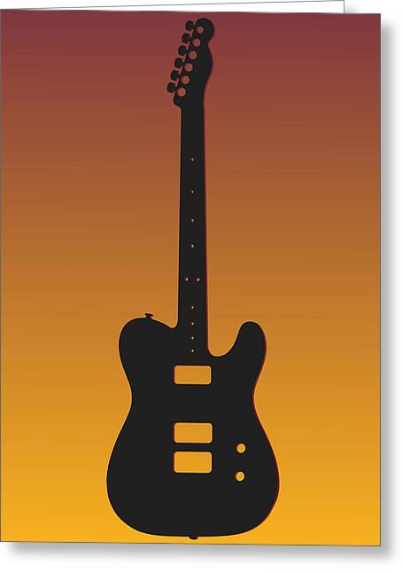 Concert Bands Photographs Greeting Cards - Washington Redskins Guitar Greeting Card by Joe Hamilton
