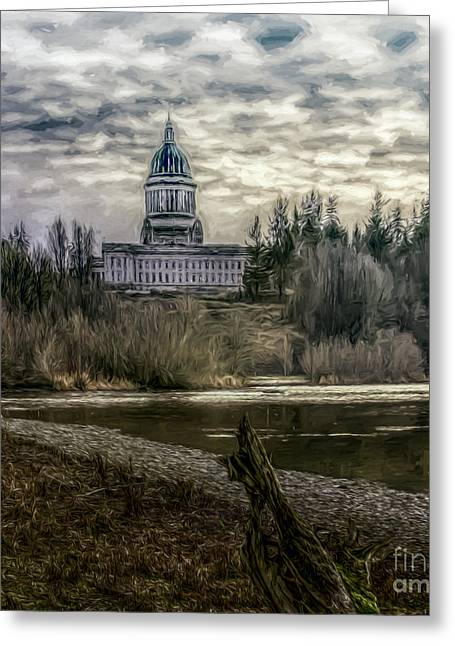 Republican Greeting Cards - Washington State Capitol Greeting Card by Jean OKeeffe Macro Abundance Art