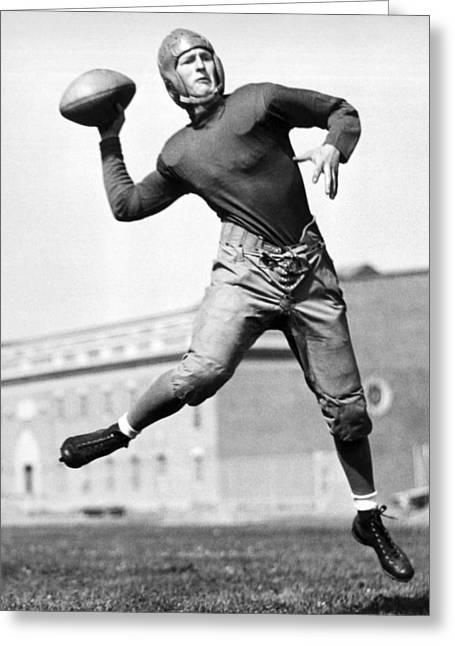 Washington State Quarterback Greeting Card by Underwood Archives