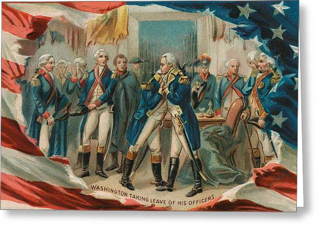 Washington Taking Leave Of His Officers Greeting Card by Anonymous