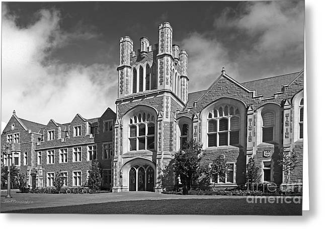 Washington University Anheuser- Busch Hall Greeting Card by University Icons