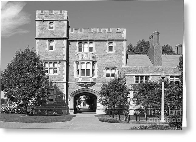 Hall Greeting Cards - Washington University Mc Millen Hall Greeting Card by University Icons
