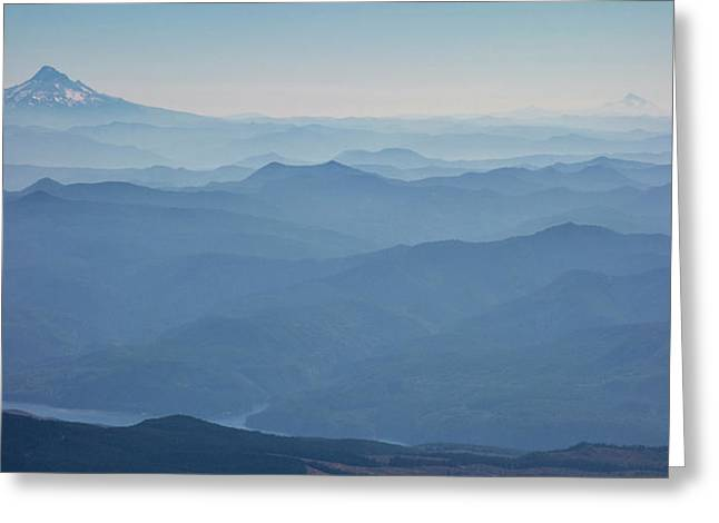 Washington View From Mount Saint Helens Greeting Card by Matt Freedman