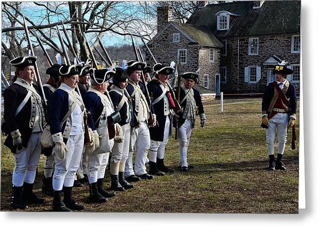 Battle Of Trenton Greeting Cards - Washingtons Crossing Continentals Greeting Card by Steven Richman
