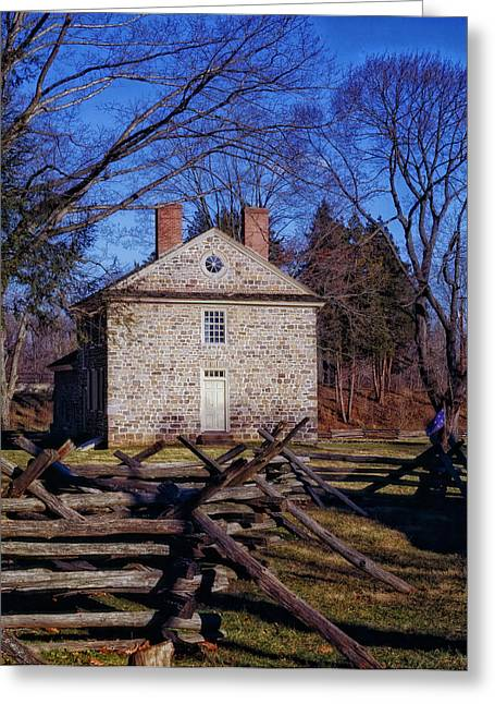 Historical Buildings Greeting Cards - Washingtons Headquarters - Valley Forge Greeting Card by Mountain Dreams