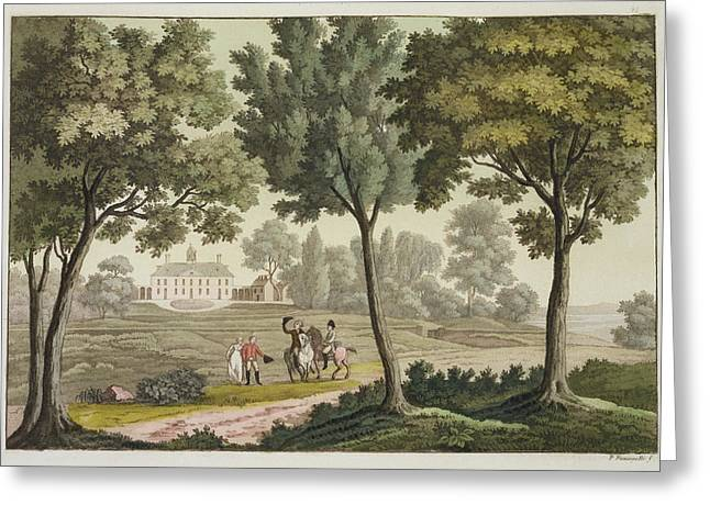 Presidential Drawings Greeting Cards - Washingtons House At Mount Vernon Greeting Card by Paolo Fumagalli
