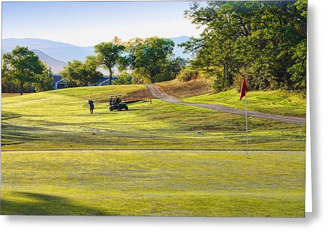 Hole 12 Greeting Cards - Washoe Golf Course B Greeting Card by John Saunders