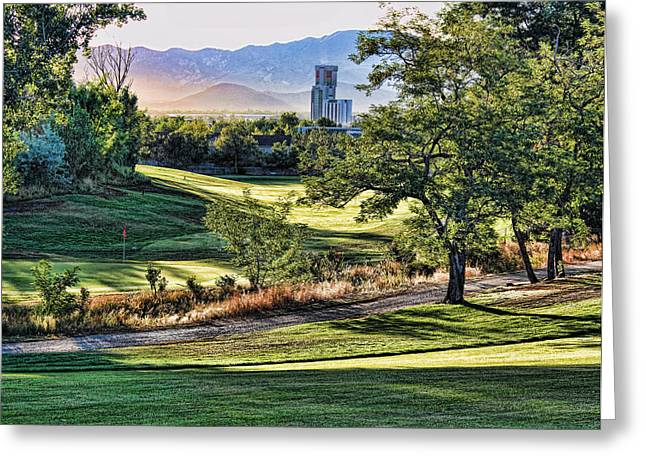 Hole 12 Greeting Cards - Washoe Golf Course C Greeting Card by John Saunders