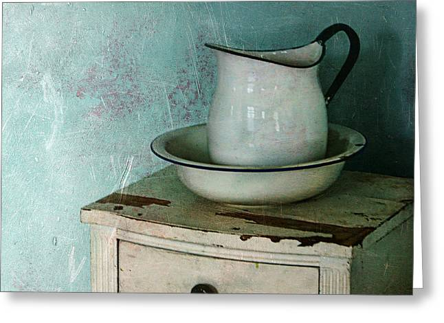 Pitcher Greeting Cards - Washstand Still Life Greeting Card by Nikolyn McDonald