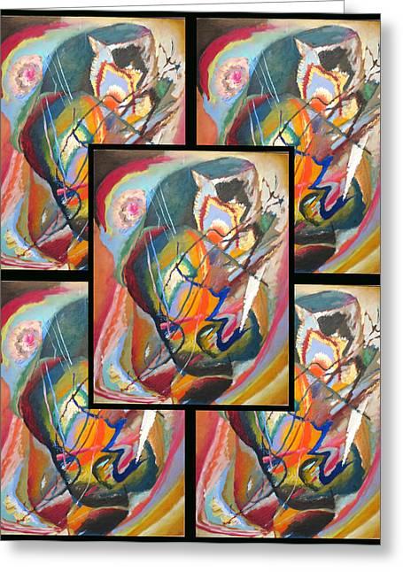 Wassily Kandinsky 2 Greeting Card by Wassily Kandinsky
