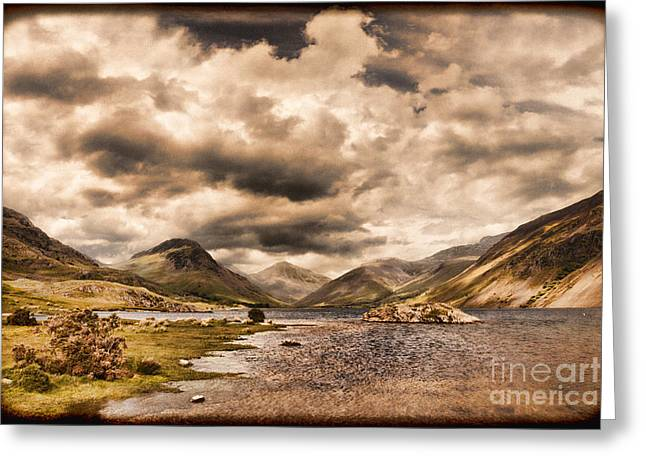 Vintage Landscapes Greeting Cards - Wast Water Lake District England Greeting Card by Colin and Linda McKie