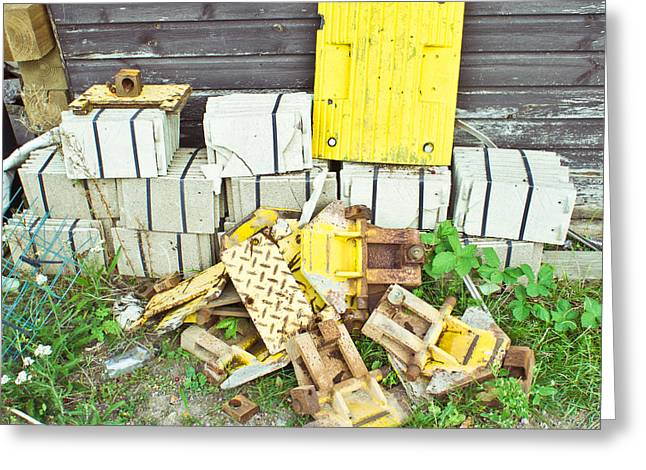 Sheds Greeting Cards - Waste materials Greeting Card by Tom Gowanlock