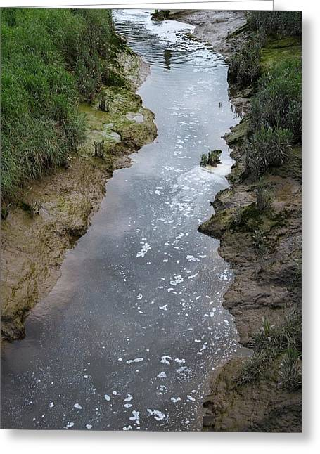 Wastewater Pollution Greeting Card by Robert Brook