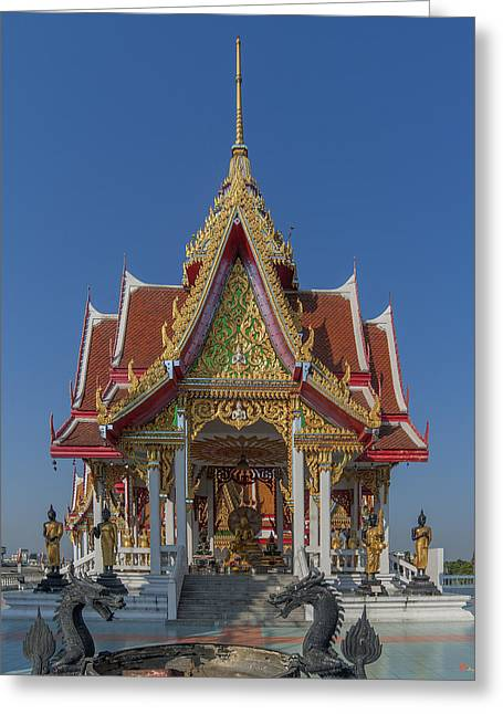 Thon Greeting Cards - Wat Bukkhalo Central Roof-top Pavilion DTHB1809 Greeting Card by Gerry Gantt