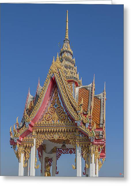 Thon Greeting Cards - Wat Bukkhalo Front Roof-top Pavilion Gable DTHB1822 Greeting Card by Gerry Gantt