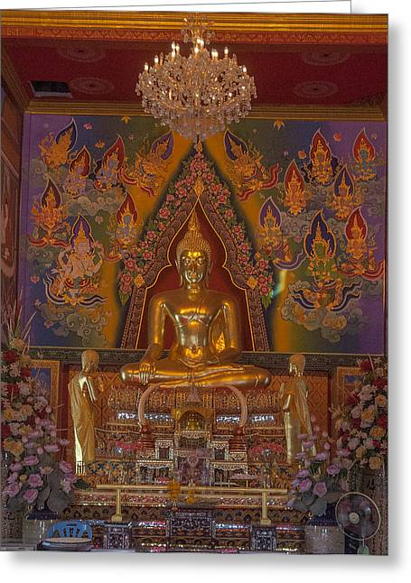 Thon Greeting Cards - Wat Bukkhalo Phra Ubosot Buddha Image DTHB1801 Greeting Card by Gerry Gantt