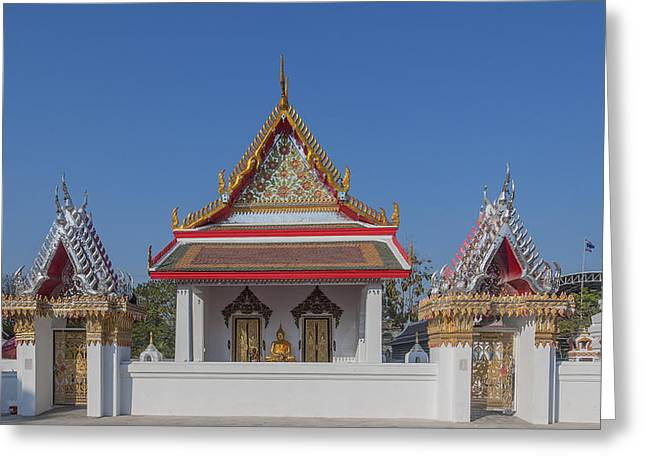 Thon Greeting Cards - Wat Bukkhalo Phra Ubosot DTHB1793 Greeting Card by Gerry Gantt