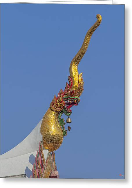 Thon Greeting Cards - Wat Bukkhalo Phra Wihan Roof Chofah DTHB1807 Greeting Card by Gerry Gantt
