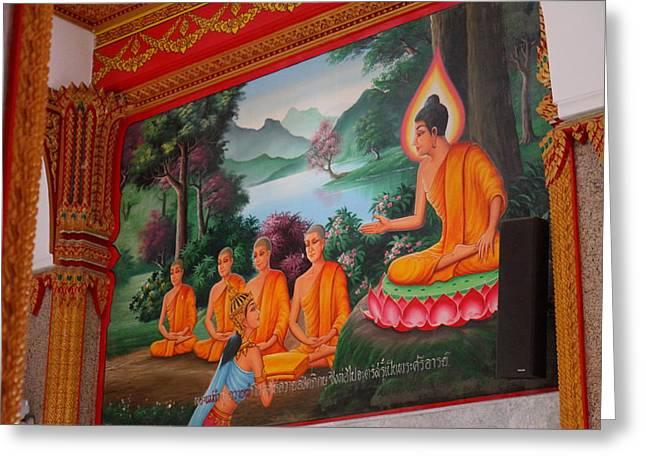 Asian Greeting Cards - Wat Chalong - Phuket Thailand - 011321 Greeting Card by DC Photographer