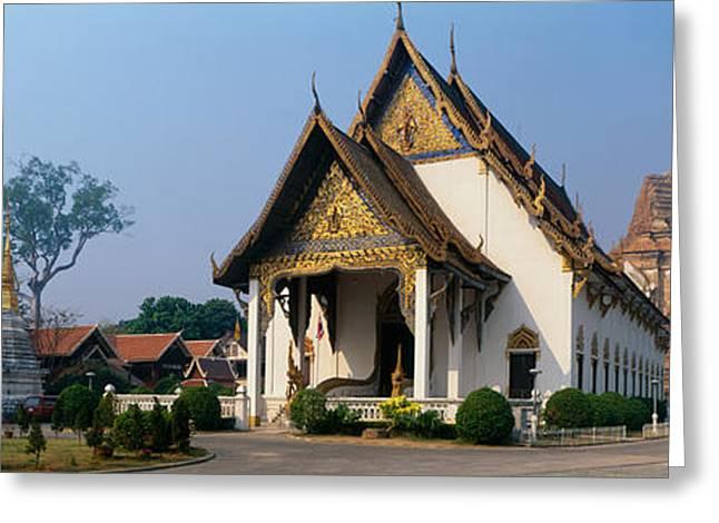 Chiang Greeting Cards - Wat Chedi Luang Chiang Mai Thailand Greeting Card by Panoramic Images