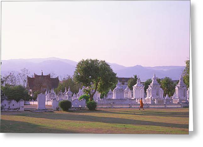 Chiang Mai Greeting Cards - Wat Complex Chiang Mai Thailand Greeting Card by Panoramic Images