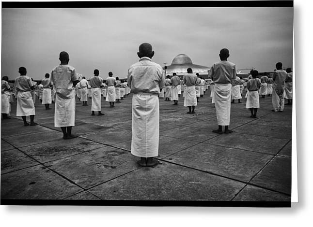 Monk-religious Occupation Greeting Cards - Wat Dhamma 2 Greeting Card by David Longstreath