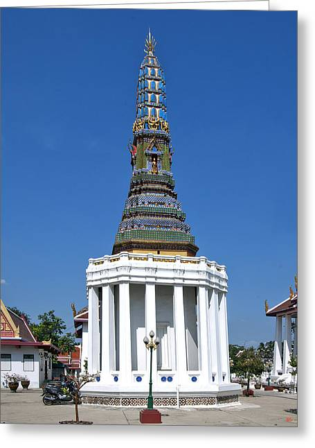 Thon Greeting Cards - Wat Intharam Phra Prang West DTHB905 Greeting Card by Gerry Gantt