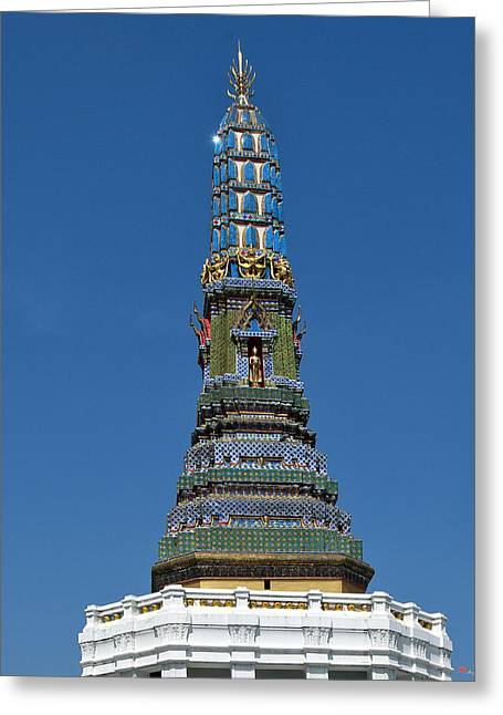 Thon Greeting Cards - Wat Intharam Phra Prang West DTHB907 Greeting Card by Gerry Gantt