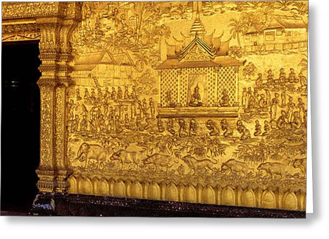 Meditate Greeting Cards - Wat Mai Luang Prabang Laos Greeting Card by Panoramic Images