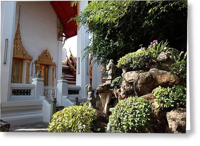 Wat Pho - Bangkok Thailand - 011331 Greeting Card by DC Photographer