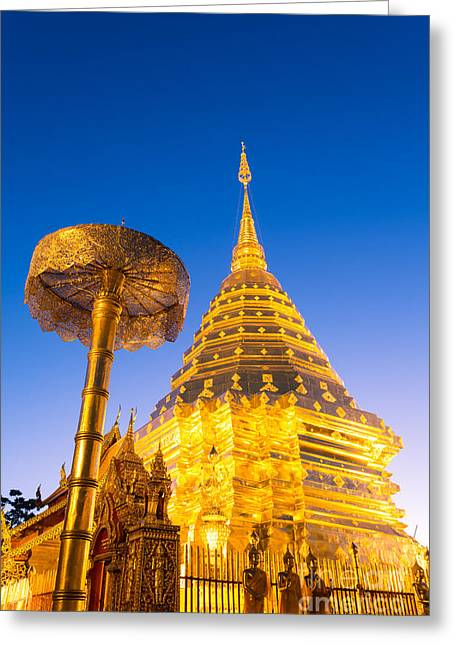 Doi Greeting Cards - Wat phra Doi Suthep - Chiang Mai - Thailand Greeting Card by Matteo Colombo