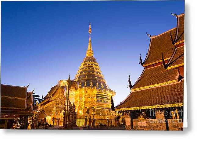 Suthep Greeting Cards - Wat Phra Doi Suthep temple - Chiang Mai - Thailand Greeting Card by Matteo Colombo