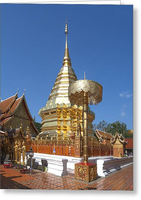 Suthep Greeting Cards - Wat Phratat Doi Suthep Golden Chedi DTHCM0002 Greeting Card by Gerry Gantt
