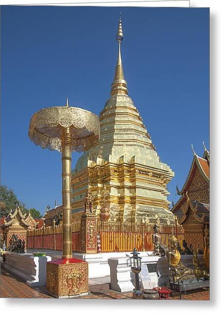 Suthep Greeting Cards - Wat Phratat Doi Suthep Golden Chedi DTHCM0006 Greeting Card by Gerry Gantt