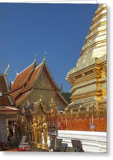 Suthep Greeting Cards - Wat Phratat Doi Suthep Wiharn Gable DTHCM0012 Greeting Card by Gerry Gantt